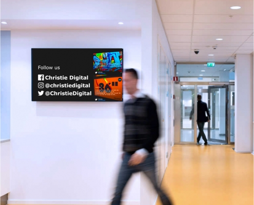 digital signage oplossing op kantoor