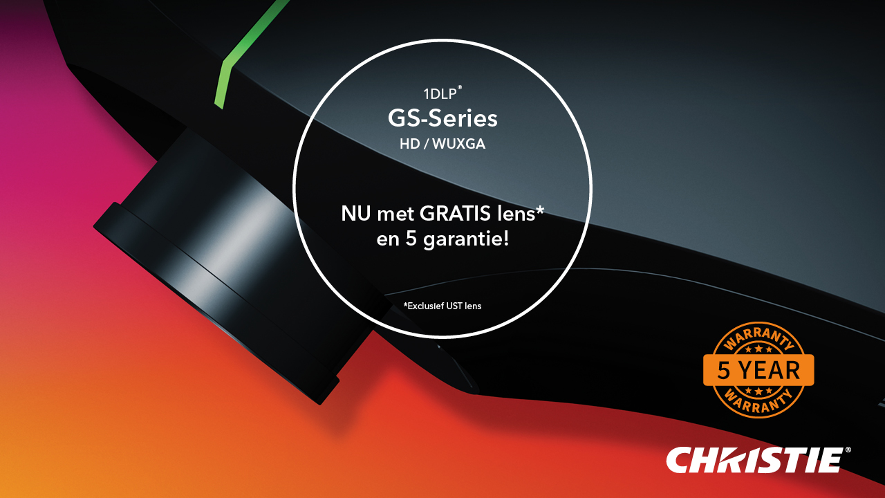 Christie GS serie GRATIS lens