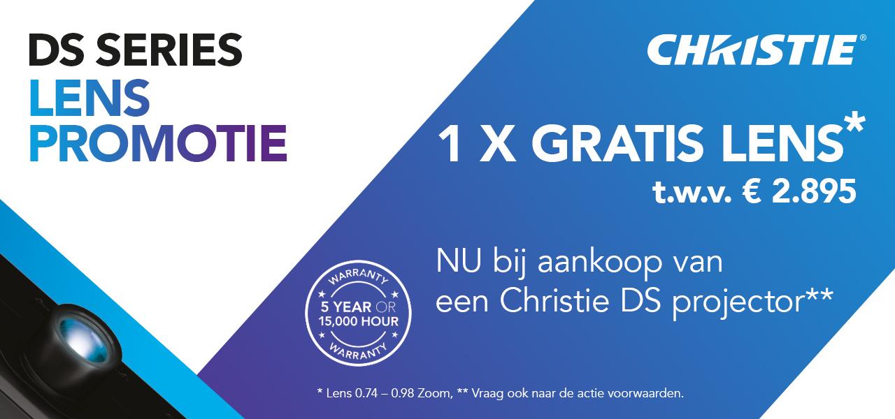 Christie DS projector GRATIS lens